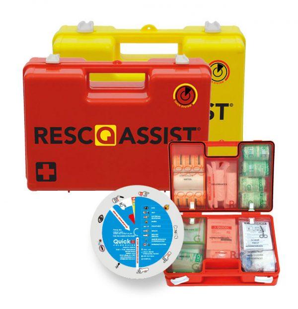 Verbandkoffer Resc-Q-Assist Q25 kleur oranje met B inhoud