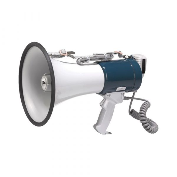 Megafoon met sirene 25 watt