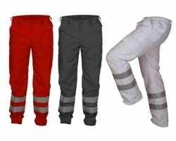 EHBO Pantalon kleur donkerblauw met striping maat 42