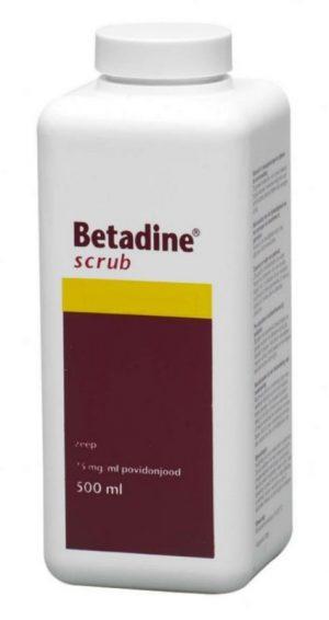 Betadine scrub zeep