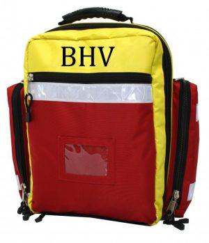 BHV rugtas met inhoud met opdruk BHV- model PSF