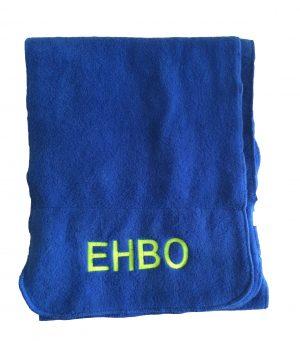 EHBO Sjaal de Luxe kleur blauw met borduur opdruk - EHBO