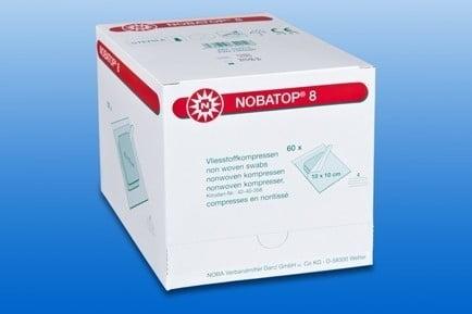 NOBATOP 8 Ds 60 x Set (2) Wondcompres NW steriel 10x10cm