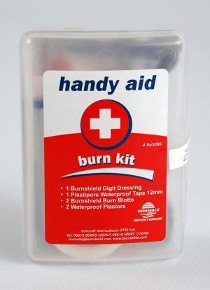 Handy Aid Kit voor brand en schaaf wonden.