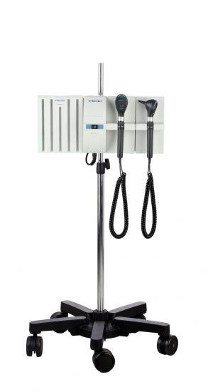 Otoscoop en Ophthalmoscoop op een verrijdbaar statief