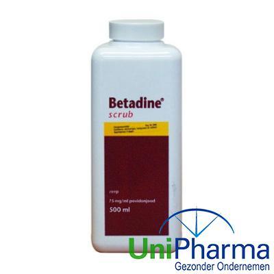 Betadine scrub 75mg vloeibare zeep flacon 500 ml