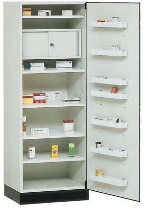 Medicijnenkast 1-deurs rechts draaiende deur