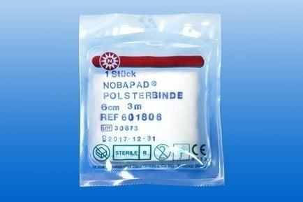 Synthetische ST wattenrol NOBAPAD 3m x 10 cm in folie Ds 10