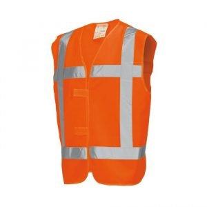 Veiligheidsvest kleur oranje met opdruk BHV