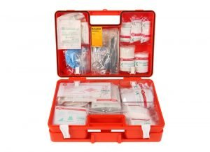 Verbandkoffer Medi-Multi Arvem met B inhoud en wandhouder