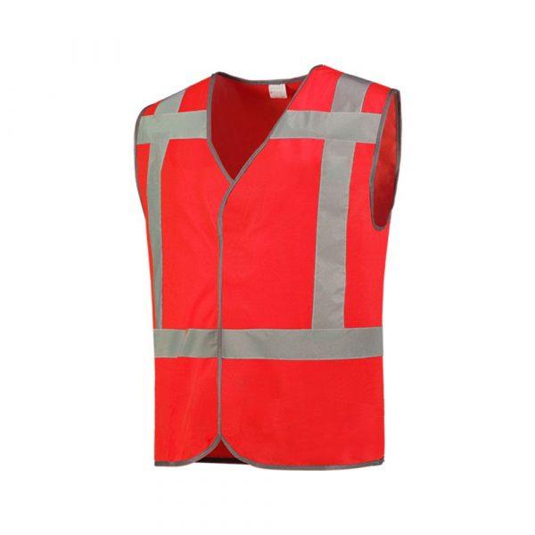Veiligheidsvest RWS + reflectie Rood Maat M/L onbedrukt
