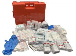 Verbandkoffer HACCP met A inhoud en wandhouder model Multi