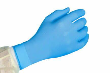 Nitril handschoenen. Poedervrij.  Kleur blauw