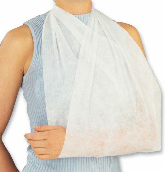 Driekante doek/ Mitella NOBA viscose kleur wit