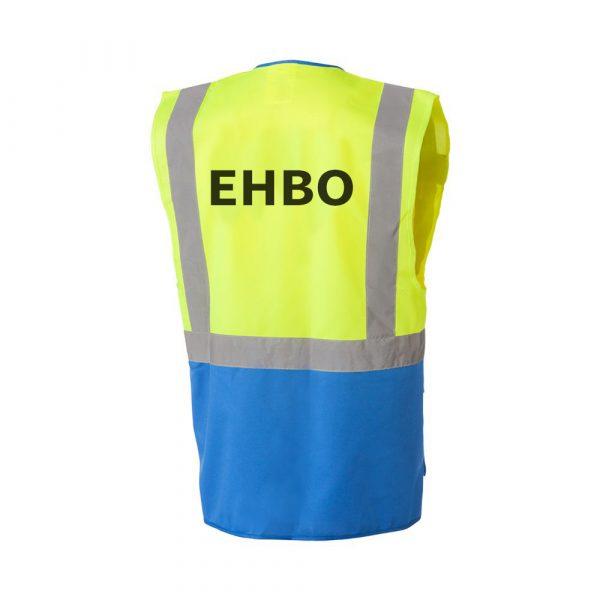 Veiligheidsvest Geel / Blauw met opdruk EHBO