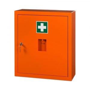 BHV kast  leeg kleur oranje afmetimg 56 x 49 x 20 cm