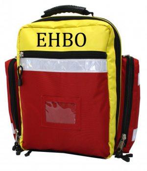 EHBO rugtas met inhoud met opdruk EHBO- model PSF