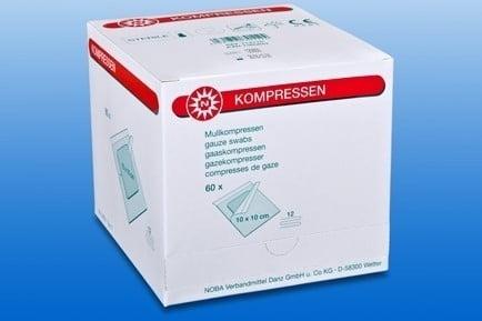 Gaascompressen  ( set 1 ) NOBA 12 lgs steriel 5 x 5 cm Ds 60