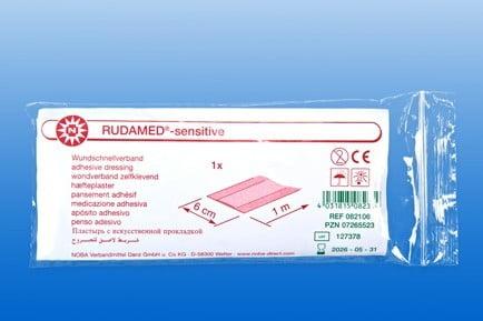 Wondpleister RUDAMED Sensitive strip 100 x 6 cm