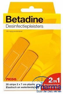 Betadine pleisterstrips Ds 20 stips