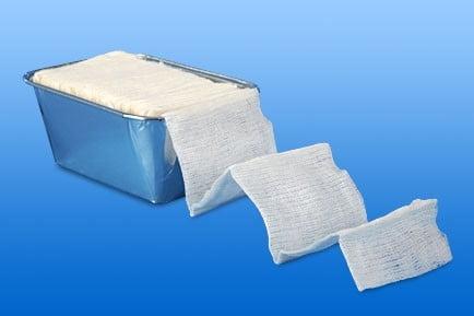 Tampons gynaecologische afmeting 5 m x 6 cm Set 4