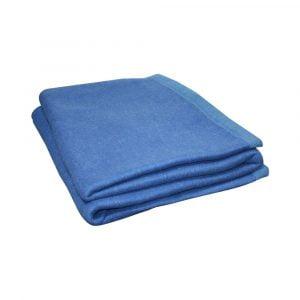 Brancarddeken 150 x 220 cm kleur blauw