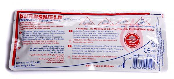 Brandwondkompres Limb Burnshield tbv lies en nek afm. 5cmx1m