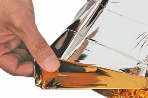 Reddingsdeken - Isolatiedeken goud/zilver volwassenen p.stuk
