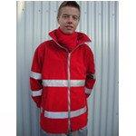 Rode Kruis fleecevest met striping kleur rood