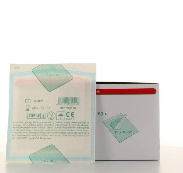 NOBARAPID wondcompres niet verklevend steriel 5x5cm Ds 50