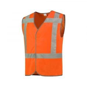 Veiligheidsvest in de kleur oranje onbedrukt