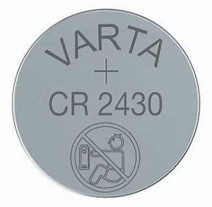 Varta CR2430 Lithium MnS batt 3V 300mAh 6430